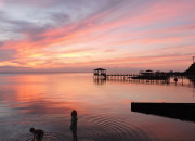 Curricuck Sound at Sunset--Duck, NC| WildTalesof.com
