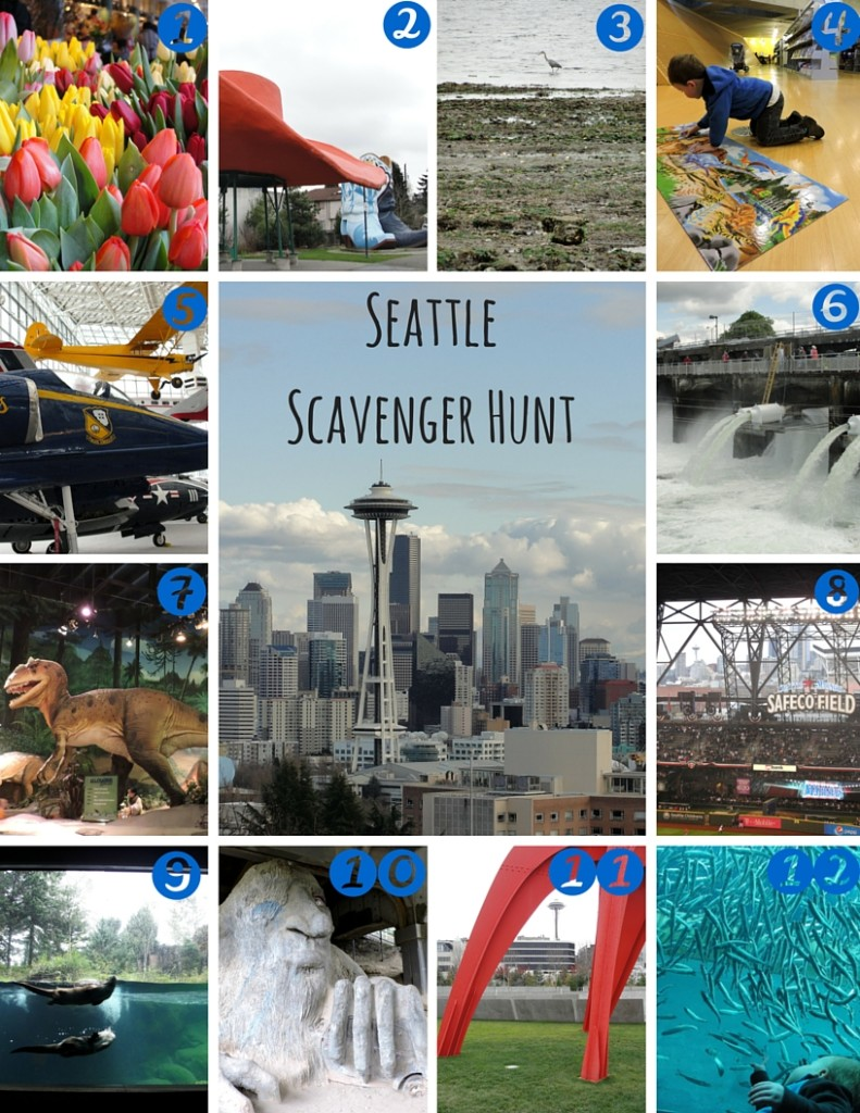 Seattle Scavenger Hunt With Printable For Kids Wildtalesof Com