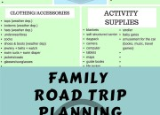 Road Trip Packing List for Families with Babies and Young Children | WildTalesof.com