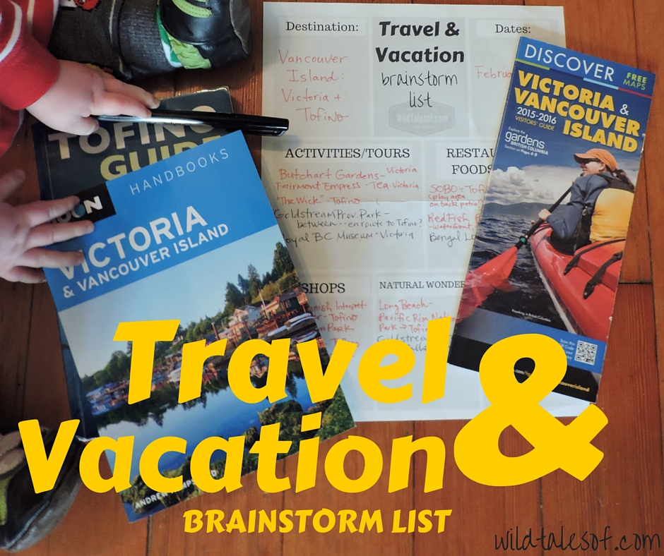 Family Travel & Vacation Planning: Brainstorm List Printable | WildTalesof.com