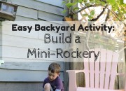 Easy Backyard Activity: Build a Mini-Rockery | Wildtalesof.com