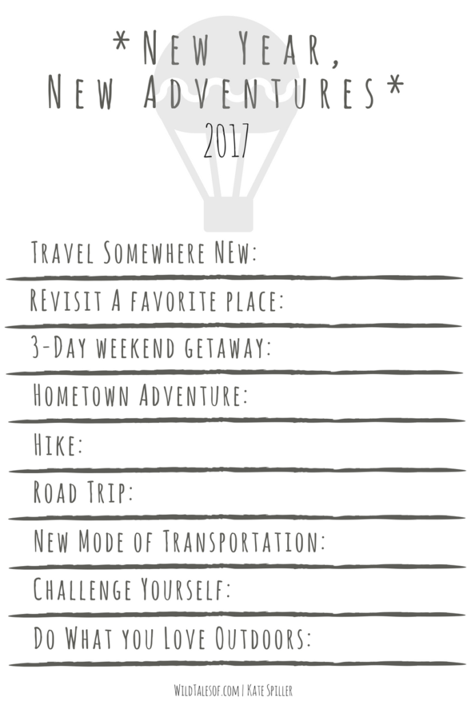 Printable Guide to Planning an Adventurous Year | WildTalesof.com