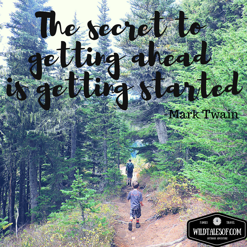 """The secret to getting ahead is getting started."" -Mark Twain 