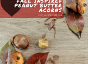 Fall Inspired Peanut Butter Acorns | WildTalesof.com