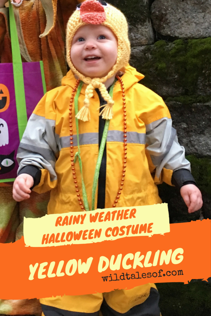 Rainy Weather Halloween Costume Idea: Yellow Duckling | WildTalesof.com